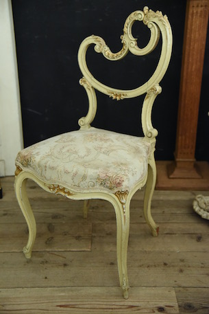 フレンチ アンティーク 椅子 チェア ペイント ホワイト