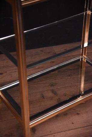 アンティーク ゴールド ガラスシェルフ ヴィンテージ モダン