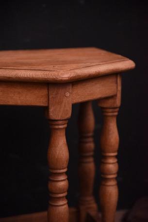 アンティーク サイドテーブル 五角形 剥離 フレンチ