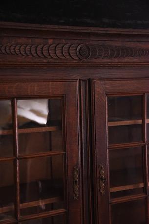 アンティーク キャビネット フレンチ ディスプレイ ガラス