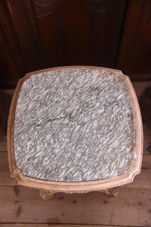 アンティーク ペイント ベッドサイドテーブル 大理石 フレンチ
