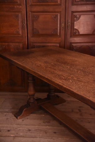 アンティーク 木製 ダイニングテーブル フレンチ