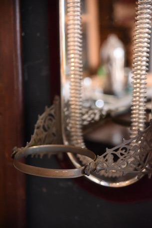 アンティーク ウォールミラー フレンチ 鏡