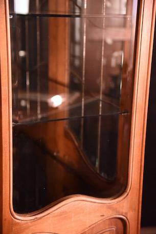 アンティーク ディスプレイキャビネット フレンチ ガラスキャビネット