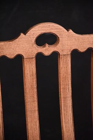 アンティーク 剥離 木製 ダイニングチェア フレンチ チャーチチェア
