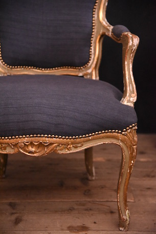 アンティーク アームチェア フレンチ ルイ15世 ペイント