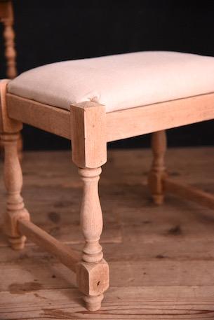 アンティーク 木製 クッション スツール フレンチ