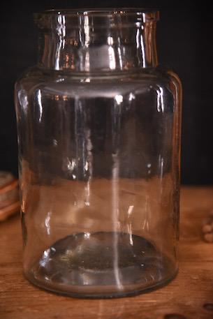 アンティーク ガラスボトル 花瓶 フレンチ 古いガラス