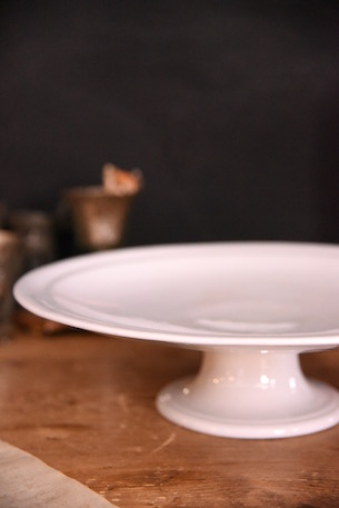 アンティーク 陶器 ケーキスタンド パイスタンド