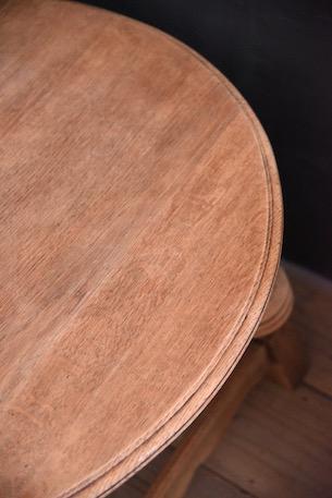 アンティーク ラウンド コーヒーテーブル 剥離 フレンチ