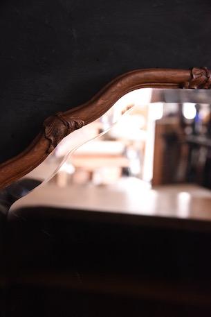 アンティーク ウォールミラー オーバル 鏡 フレンチ