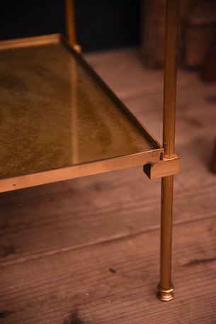 ヴィンテージ モダン ガラストップ サイドテーブル フレンチ