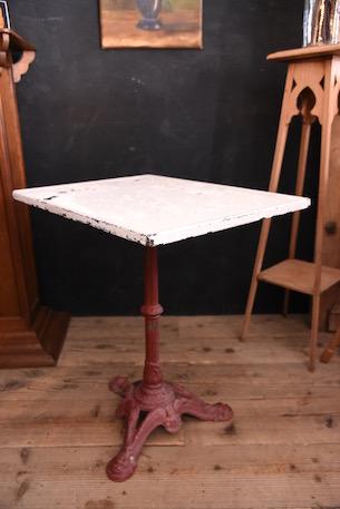 アンティーク 鉄脚 ペイント ガーデン テーブル フレンチ