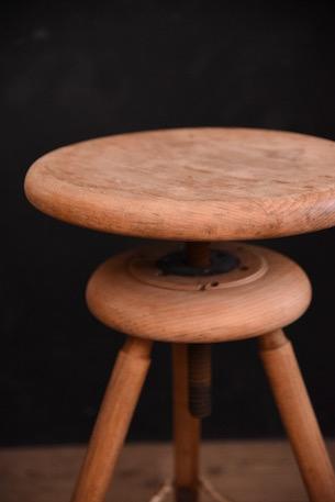 アンティーク アトリエ スツール 木製 フレンチ 回転