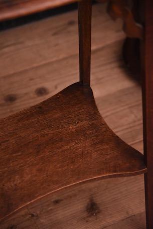 アンティーク タイルトップ サイドテーブル 木製 フレンチ