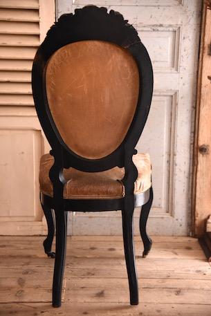 アンティーク ナポレオン チェア レザー ルイ15世 猫脚