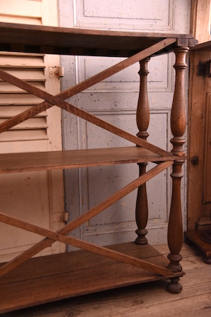 アンティーク 木製 フレンチ シェルフ オープンラック