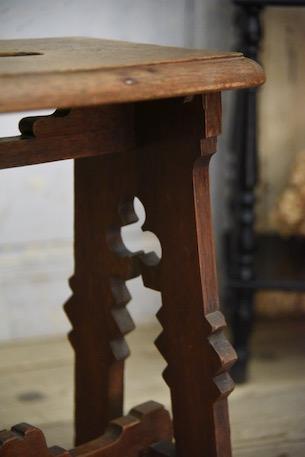 アンティーク 木製 スツール フレンチ 無垢