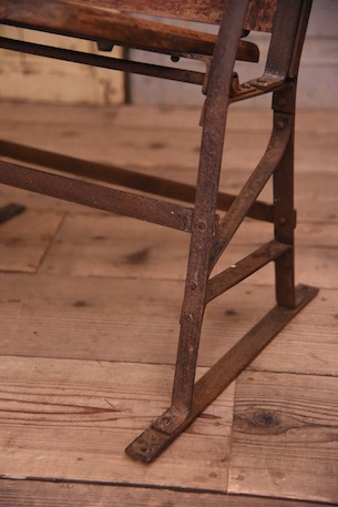アンティーク シネマベンチ フレンチ 木製